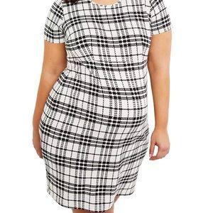 Motherhood maternity black & cream plaid dress 2X
